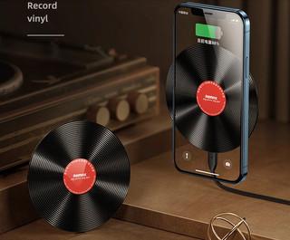 REMAX 睿量 黑胶唱片式 无线充电器 20W快充