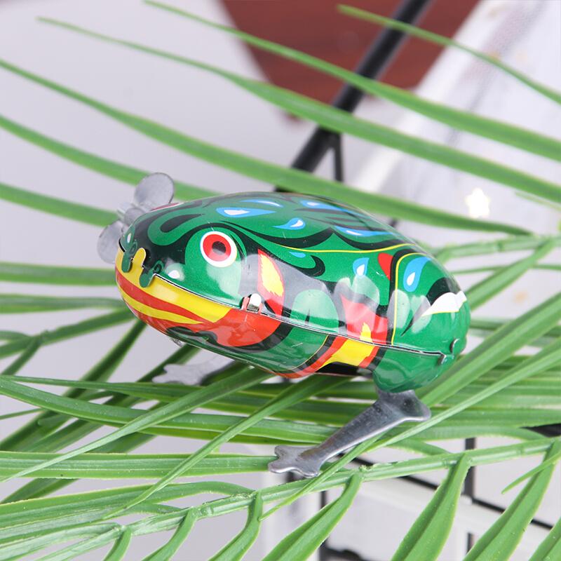 Tatanice鐵皮青蛙跳跳蛙上發條懷舊玩具80后90后的經典玩具兒童幼兒玩具2個裝