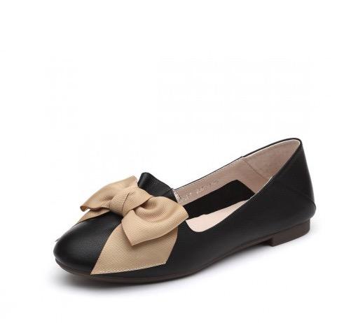 SENDA 森達 VCE3NC01DU1CQ9 女士甜美蝴蝶結淺口平底鞋