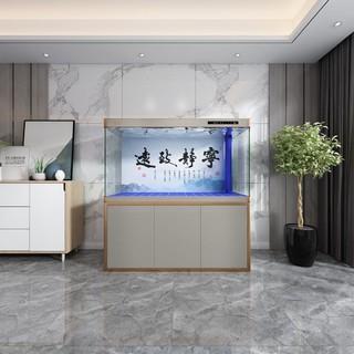 Yee大中型鱼缸水族箱家用客厅观赏高清生态鱼缸底过滤懒人免换水