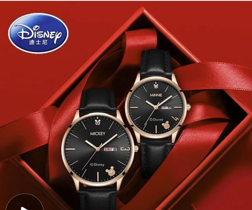 Disney 迪士尼 情侶石英表