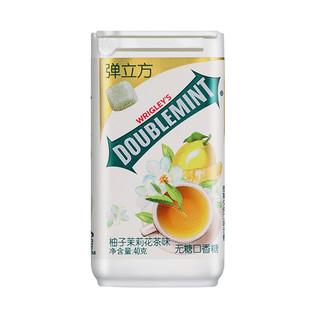 绿箭(DOUBLEMINT)无糖口香糖弹立方柚子茉莉花茶味 40g单瓶装 办公室休闲零食 *7件