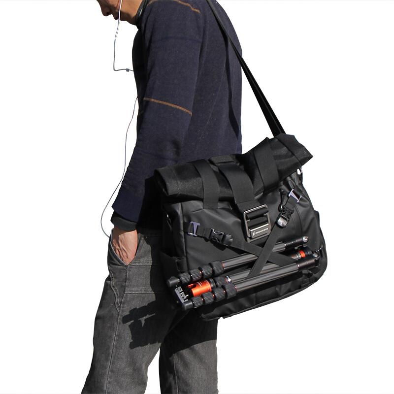 佰信 BESNFOTO 相機包單肩斜挎休閑攝影包時尚逛街肩挎包 適用尼康佳能單反微單相機 BN-2022黑色