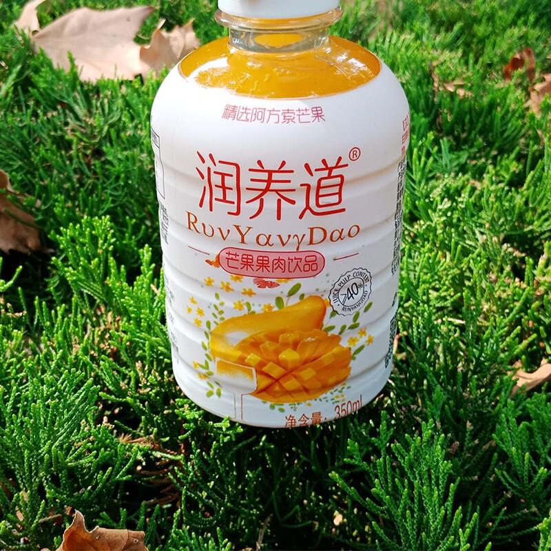 润养道 高浓度水果果汁山楂汁芒果汁蜜桃汁一箱6瓶分包装一瓶净含量350ML 山楂