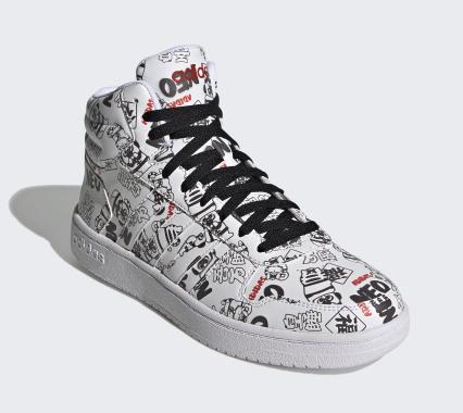 adidas 阿迪達斯 21新春系列  neo HOOPS 2.0 MID H03089 男女款休閑運動鞋