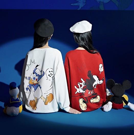 ONE MORE×迪士尼联名款 A1JAA308120400 女士宽松卫衣
