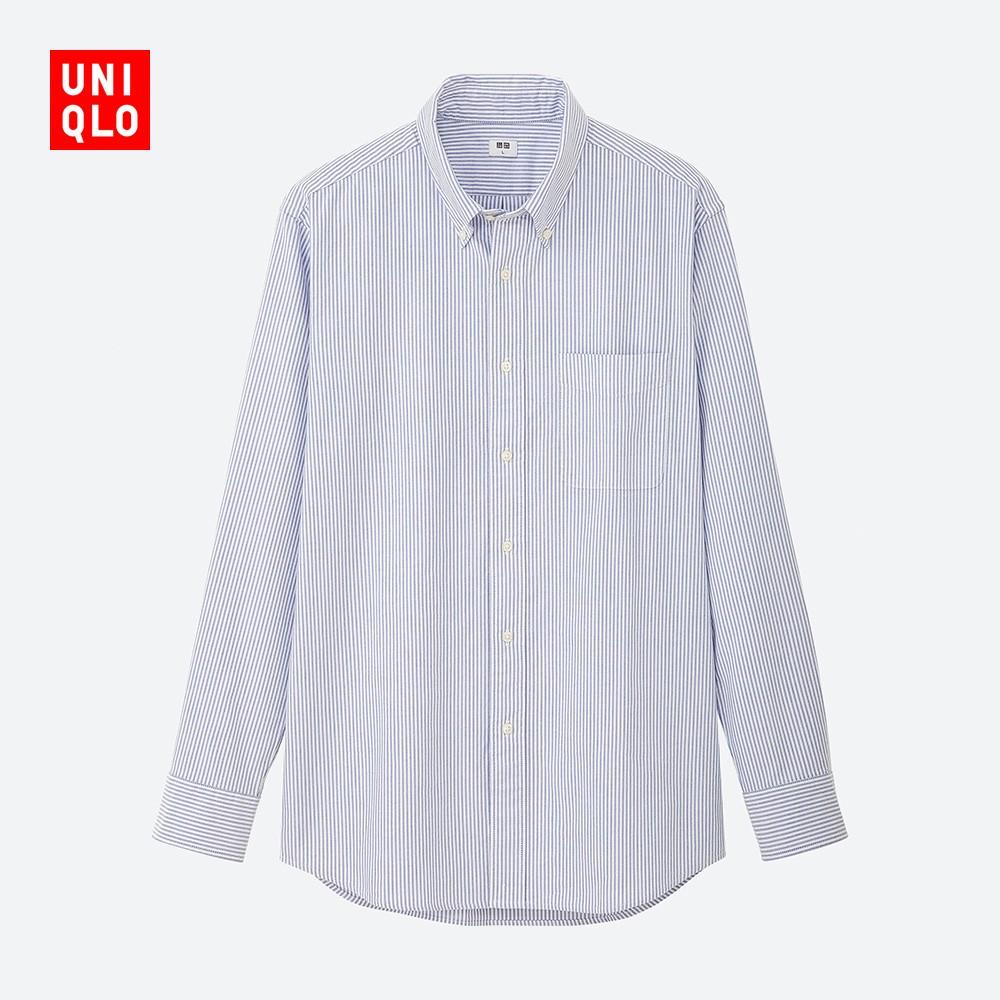 UNIQLO 优衣库 419012 男装牛津纺条纹衬衫