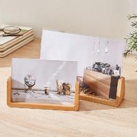 北欧ins风简约6寸木质相框摆台客厅床头柜办公室桌面创意照片摆件