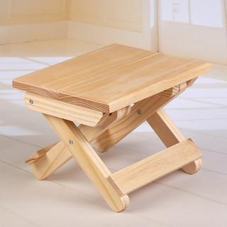 ST松木实木折叠小凳子便携式户外钓鱼坐凳小板凳方凳