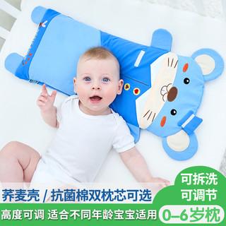 双漫儿童枕头四季通用宝宝枕头1-3-6岁婴儿枕头6个月以上荞麦枕头