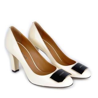 Bally 巴利女士白色真皮粗跟高跟鞋 HARMONI/508