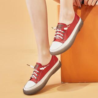 牛皮丨2021春季新款女鞋懒人板鞋女百搭平底休闲鞋女软底小白鞋女