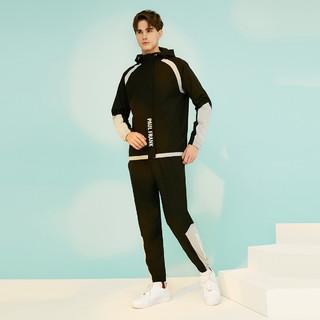 2021新款男款拼色拉链舒适休闲运动套装