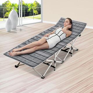 凯速 KANSOON 折叠床 折叠躺椅  单人午休床 午睡床 医院陪护床 (格子款+水晶超绒棉垫)