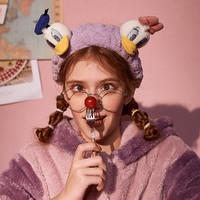 果壳洗漱发带束发迪士尼唐老鸭黛西犄角可爱童趣松紧带