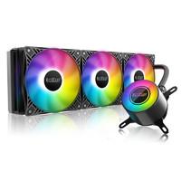 超频三巨浪360pro一体式水冷散热器cpu风扇ARGB台式机电脑温控 巨浪360PRO 水冷