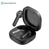 SoundPEATS TrueAir2+ 无线充版 真无线蓝牙耳机 半入耳式TWS耳机 蓝牙5.2 适用苹果华为小米手机 黑色