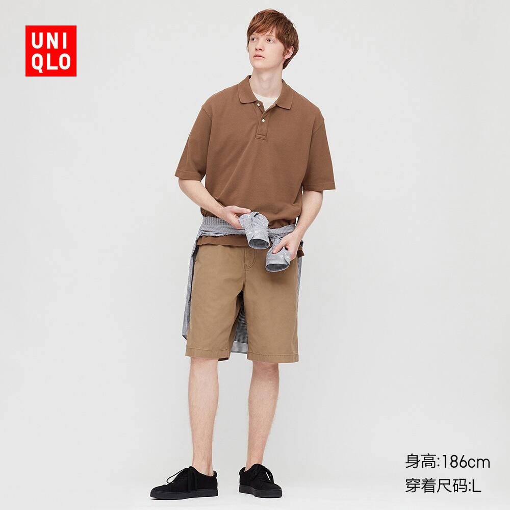 优衣库 男装 全棉宽松POLO衫(短袖) 422999 UNIQLO