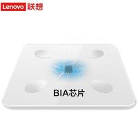 联想(Lenovo) 智能体脂秤电子秤体重秤家用称重电子秤人体脂称 高精度APP Mini E2 白色