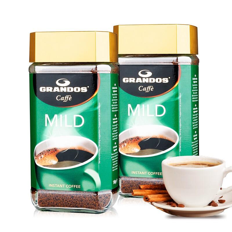 GRANDOS 格兰特  醇雅柔和速溶纯黑咖啡 100g*2瓶装