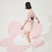 【熊本熊联名】乐町赏樱白色短袖T恤女2020春季新款女装宽松