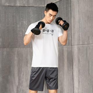 361度男士运动套装2021夏季新款休闲运动透气短袖T恤短裤宽松套装