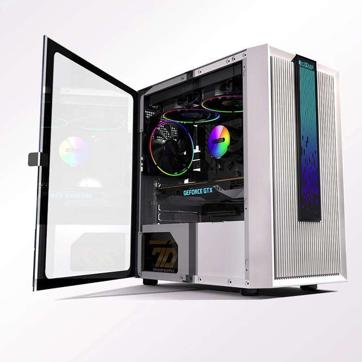 PCCOOLER 超频三 光愈 LM200 MESH RGB 水冷电脑机箱
