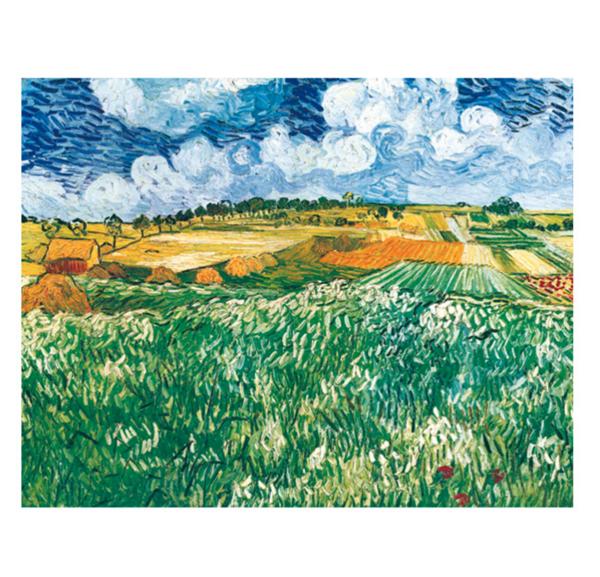 買買藝術 梵高《奧維森平原》50*40cm 裝飾畫 美術紙