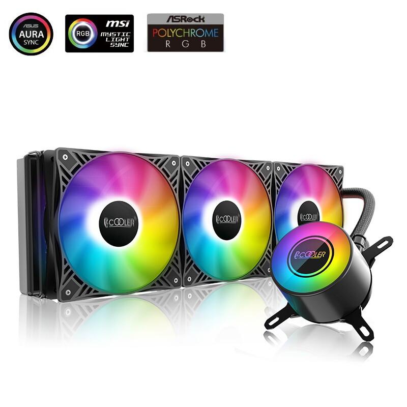 超频三(PCCOOLER)巨浪360 GI-CL360PRO CPU水冷散热器 (PWM智能温控/5VARGB/1200/2066/AM4)