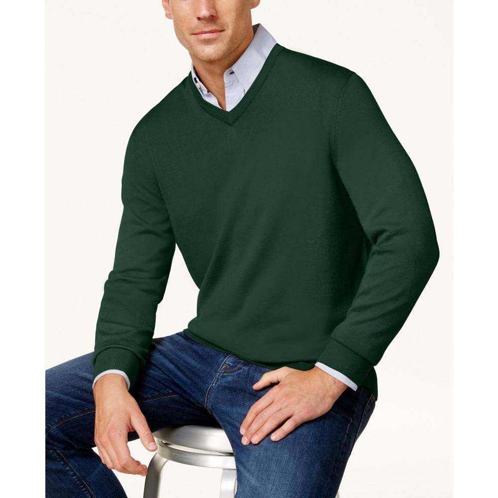 Club Room 男士v领羊毛衫