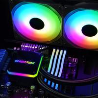 安耐美晶凌240水冷散热器CPU台式电脑风扇一体式ARGB灯光分流通道