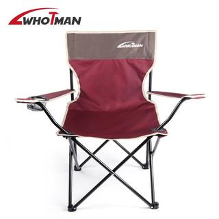 沃特曼Whotman 户外折叠椅靠椅沙滩椅钓鱼椅写生椅便携式家用休闲椅小马扎野炊椅子WY2154