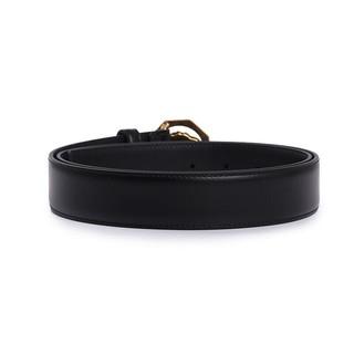范思哲 VERSACE 男士黑色皮革金色八角形美杜莎板扣皮带腰带礼盒 DCU6715 DVTP1 D41HS 105