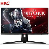 HKC HKC/27英寸 IPS高清2k 144HZ游戏显示屏幕 1ms窄边框直面屏 网吧家用 小金刚液晶电竞 电脑显示器 IG27Q