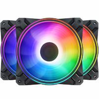 DEEPCOOL 魔影CF120Plus  (静音/机箱散热/三个ARGB幻彩风扇/标配线控/主板同步)