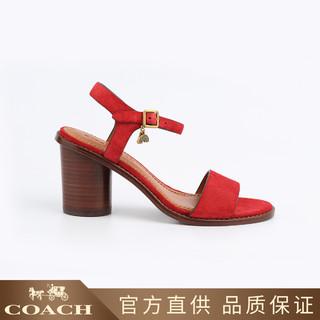 COACH 蔻驰 蔻驰女士粗跟高跟鞋凉鞋G1789