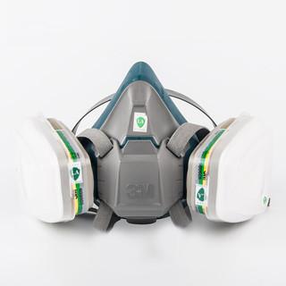 3M 6500 6200 7502升级版防毒面具硅胶防甲醛喷漆口罩男女防尘防毒面罩 6502+6006甲醛等综合毒气防护套装