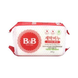 B&B 保宁 韩国B&B保宁进口婴儿洗衣皂婴儿皂宝宝专用甘菊花香味200g正品