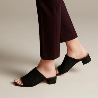 Clarks 其乐 其乐女鞋Orabella Daisy粗高跟一字拖鞋凉鞋仙女风