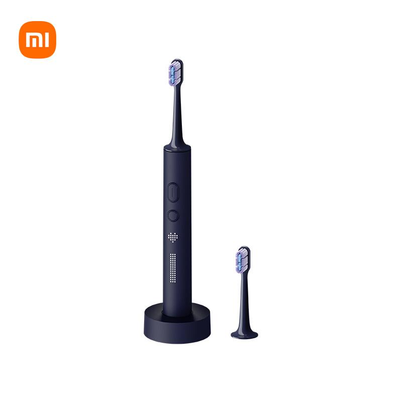 米家 小米电动牙刷 成人声波震动牙刷 柔软细腻刷毛 磁悬浮马达 360度无线充电 智能LED屏幕T700