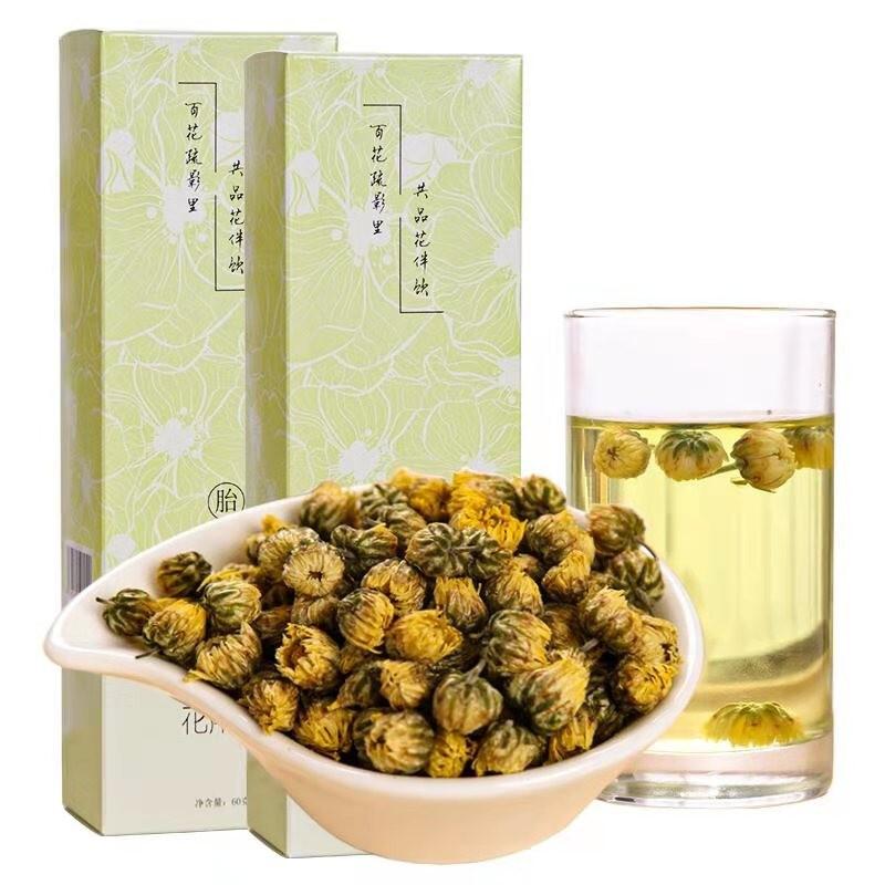 花伴饮 花草茶 菊花茶 胎菊茶杭白菊花蕾 胎菊 120克/2盒