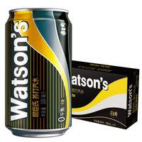 Watsons 屈臣氏 屈臣氏(Watsons)苏打汽水0糖0卡天然苏打水 330ml*24罐