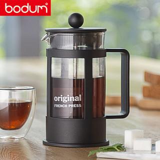 丹麦bodum 波顿法压壶 欧洲进口 玻璃咖啡壶冲茶器家用咖啡器具手动泡茶过滤杯350ml便携手冲茶壶1783-01