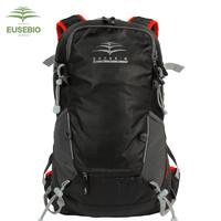 EUSEBIO 骑行水袋背包男女山地自行车双肩包防水透气户外骑行装备 PEAK 骑行包 黑色