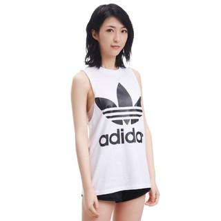 adidas Originals 三叶草系列大LOGO时尚百搭 女式运动背心休闲背心