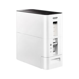 ASVEL 阿司倍鹭 阿司倍鹭(ASVEL)家用厨房米箱自动出米定量米桶 日本塑料嵌入式储物米缸 白色6KG