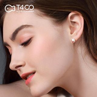 T400  耳钉淡水珍珠女欧美复古风 玫瑰金81177