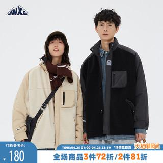 江南先生日系拼接羊羔绒棉服男潮牌ins韩版情侣装冬季外套男棉衣