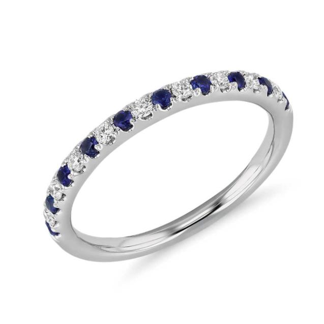Riviera 密钉蓝宝石镶钻戒指