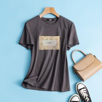 Semir 森马 女士时尚圆领短袖T恤